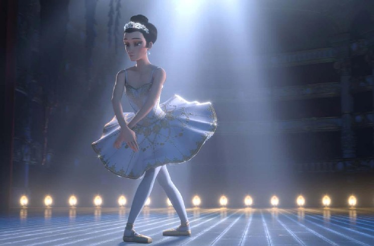Caritan ballerina vestito di gala per bambine di anni