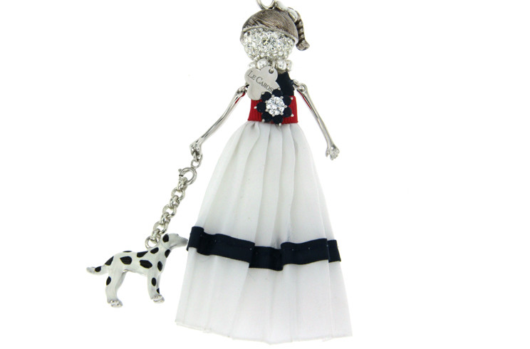 Ciondolo Le Carose IO SONO abito lungo con cane dalmata