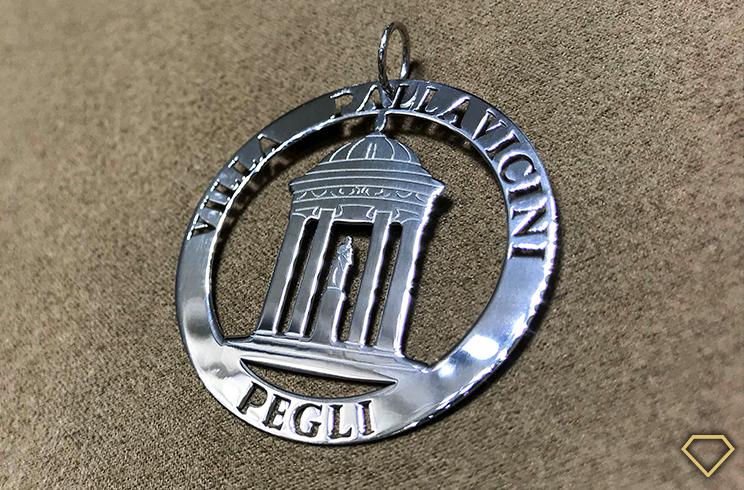 Ciondolo Tempio di Diana di Villa Pallavicini in argento 925 di Cicala