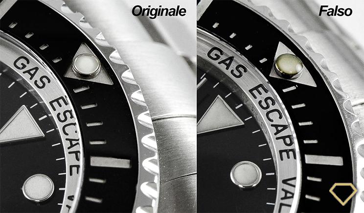 Quadrante Rolex originale e quadrante Rolex falso