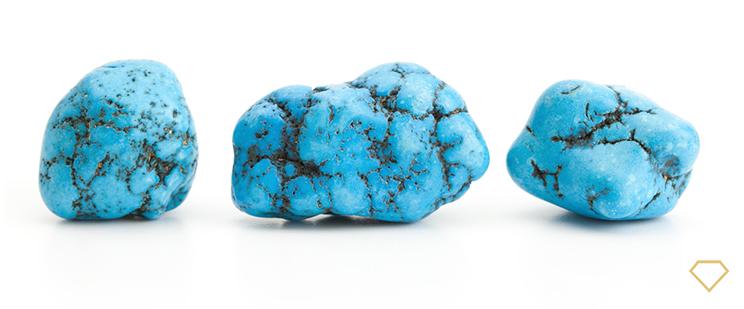 Gemme di turchese di colore azzurro