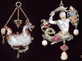 Gioielli antichi con perle barocche