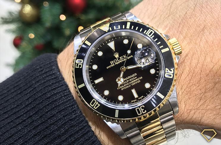 Prova al polso del Rolex Submariner 16613 del 2000