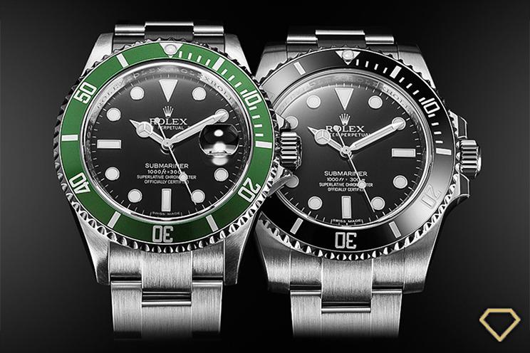 Rolex Submariner ghiera verde e ghiera ceramica nera