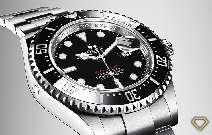 Come riconoscere un Rolex falso - Dettaglio della valvola di fuoriuscita dell'elio del Rolex Sea-Dweller