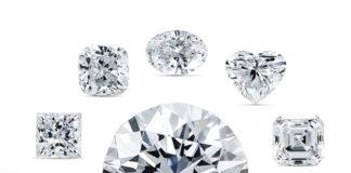 Le forme del diamante tutte in una sola fotografia