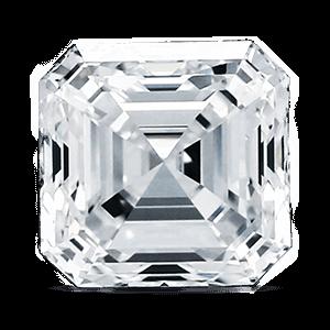 Diamante con taglio asscher