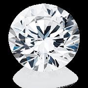 Diamante con forma di taglio rotondo  a brillante
