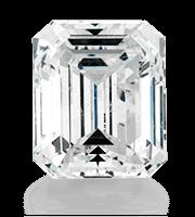 Diamante tagliato con forma a smeraldo