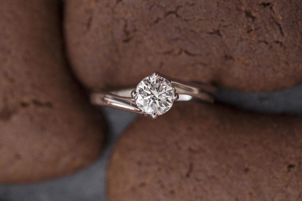 Anello solitario di esempio della guida Come scegliere un anello di fidanzamento