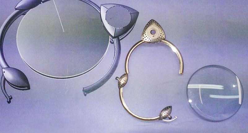 Struttura di un gioiello pre-incassatura delle gemme dei gioielli artigianali su commissione