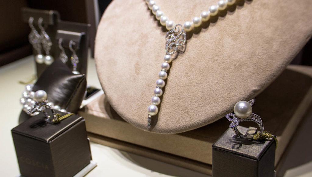 """Collana di perle da mille e una notte presentata all'evento """"alla scoperta delle perle"""""""