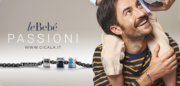 Banner della collezione leBebè le Passioni con papà e gioiello