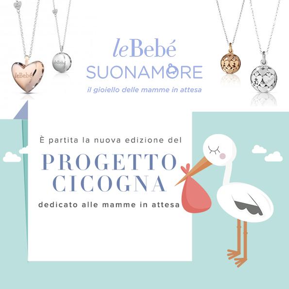 Progetto Cicogna Lebebè immagine di copertina con cicogna e gioielli