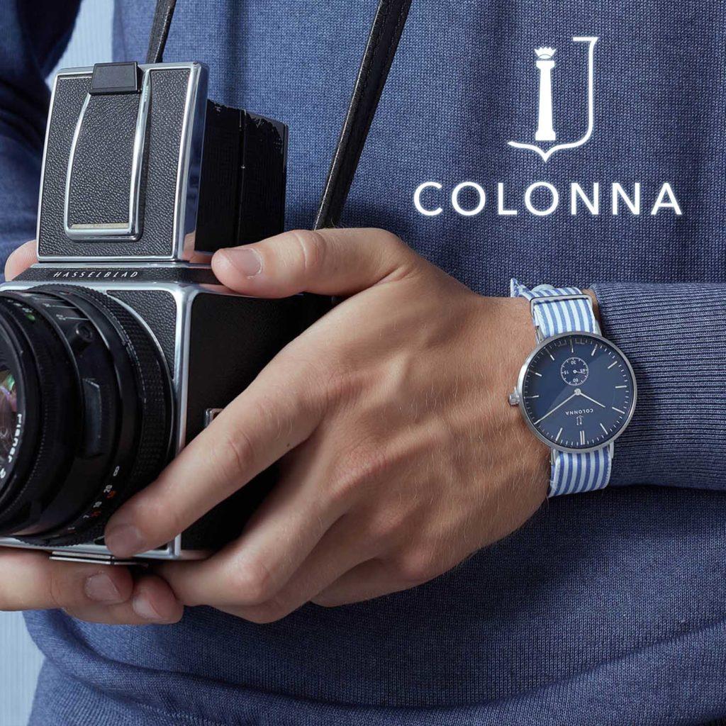 Orologi Colonna, gli orologi personalizzabili con cinturino sartoriale